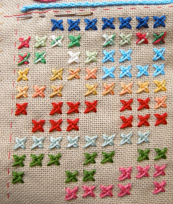 Woven Cross Stitch by Queeniepatch