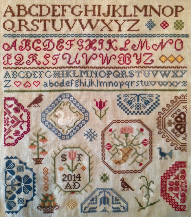 Finished Sampler Front